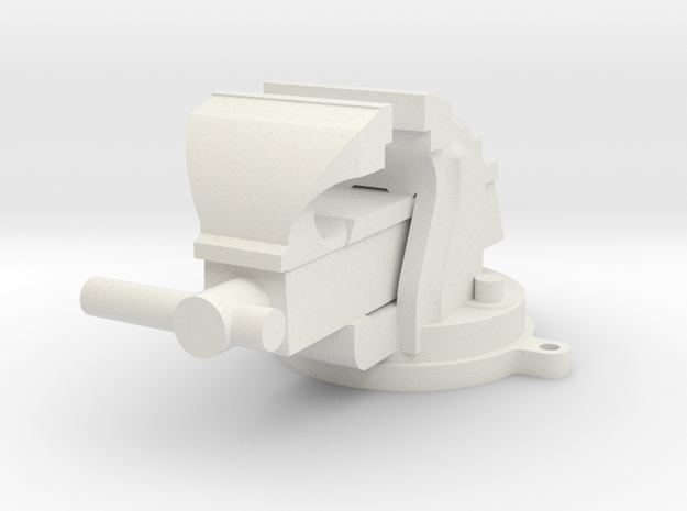 1/10 Scale Bench Vise in White Natural Versatile Plastic