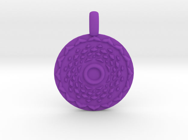 SAHASRARA Crown Chakra Jewelry Pendant in Purple Processed Versatile Plastic