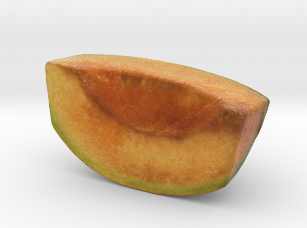 The Melon-Quarter-mini in Glossy Full Color Sandstone