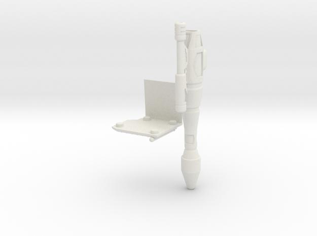 Right Shoulder Rocket MP-10 in White Natural Versatile Plastic