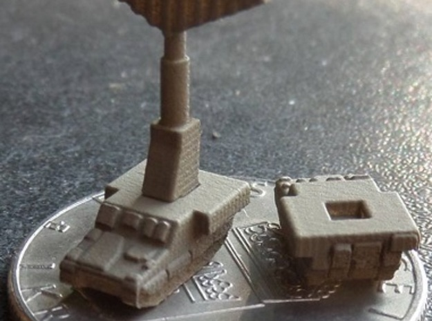 3mm CV90 Support Units (12 Pcs) in Smooth Fine Detail Plastic