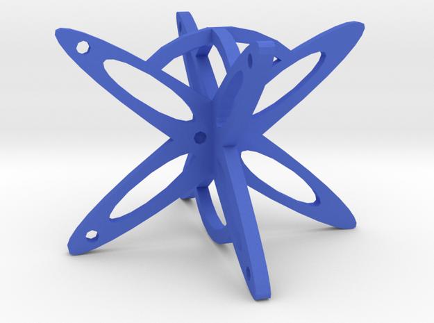 Dice10 in Blue Processed Versatile Plastic