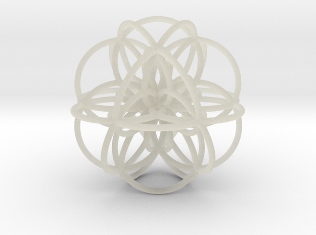 Seed of Life: Cuboctahedral Flower in Transparent Acrylic