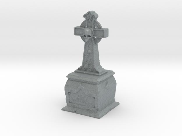 Skull Tombstone in Polished Metallic Plastic