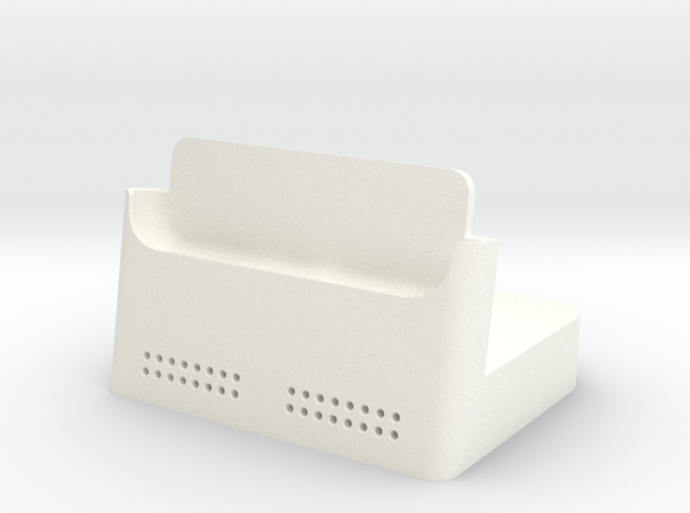 Iphone 6 Plus Dock in White Strong & Flexible Polished