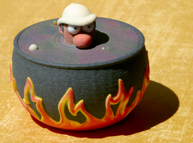 Explorer in a Pot 3d printed Front view