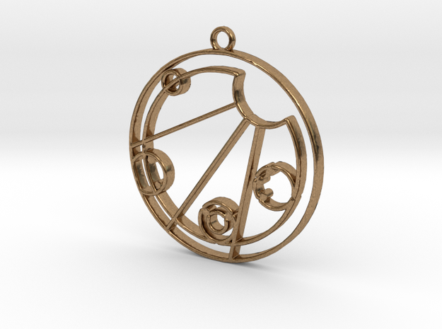 Kelsey - Necklace in Natural Brass