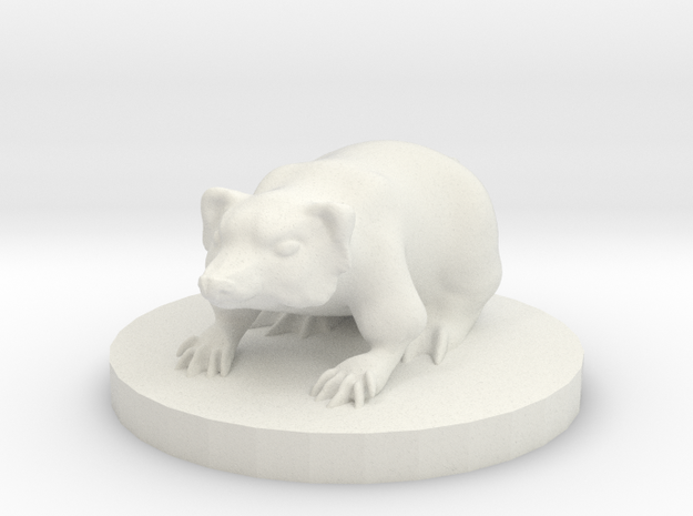 Small Badger Miniature in White Strong & Flexible
