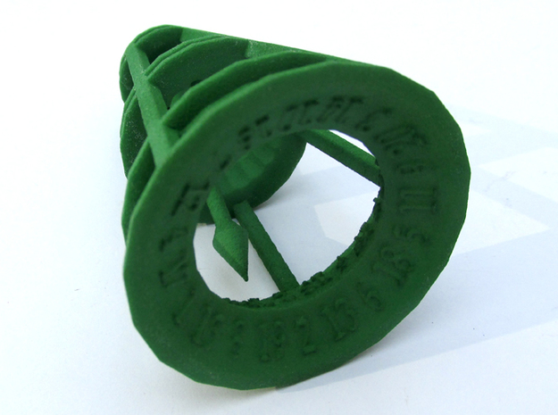 Rolling Bell Die20 in Green Strong & Flexible Polished