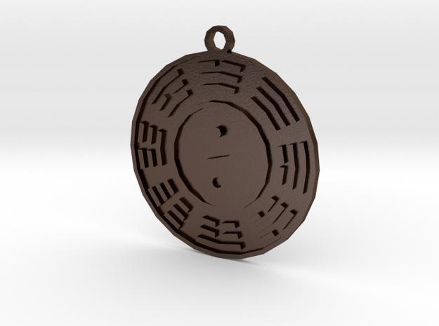 Tai Ji Ba Gua in Polished Bronze Steel