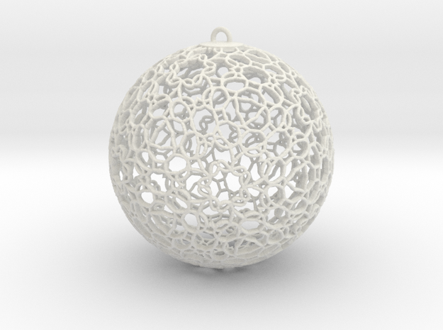 Ornament K0003 in White Natural Versatile Plastic