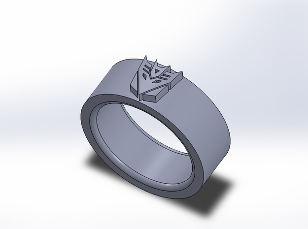 Decepticon Ring 3d printed