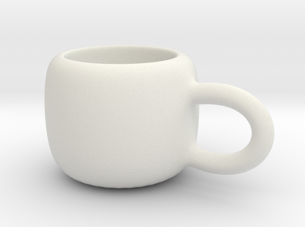 Mini Demitasse Cup in White Natural Versatile Plastic