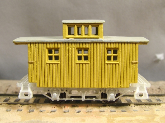 R24b New N Chassis for Bachmann Bobber Caboose x2