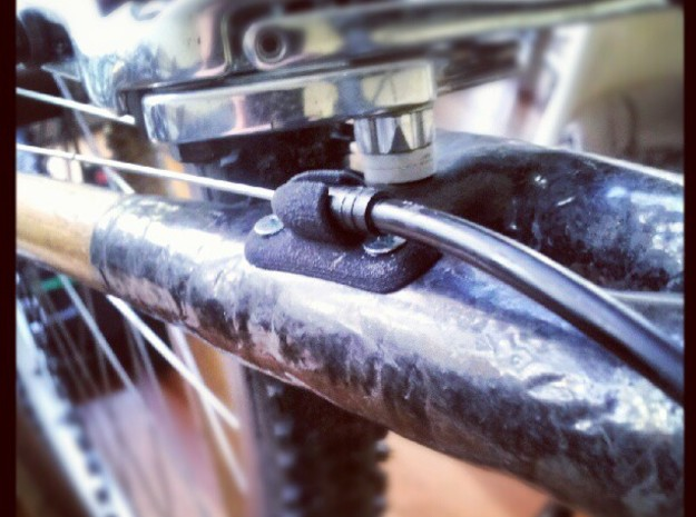 Bicycle Cable Stop 20mm - Bamboo / Carbon Frame in Black Natural Versatile Plastic