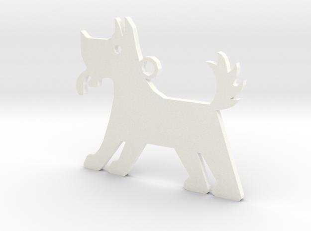 Dog in White Processed Versatile Plastic