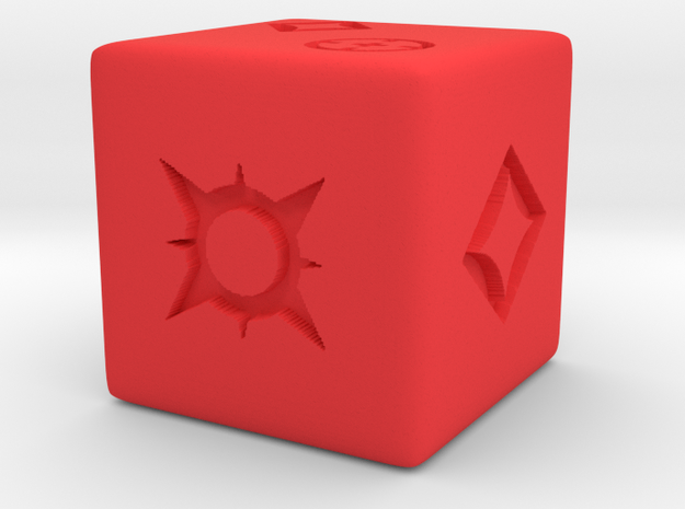 Medium Dice in Red Strong & Flexible Polished