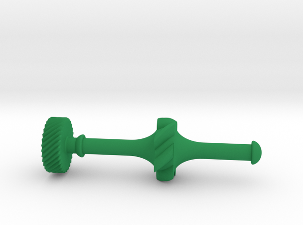 Geared Widget #3 of 5 in Green Processed Versatile Plastic