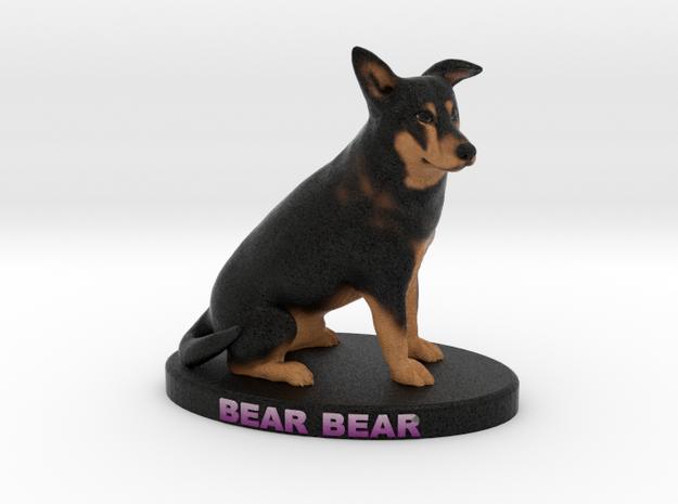 Custom Dog Figurine - Bear in Full Color Sandstone