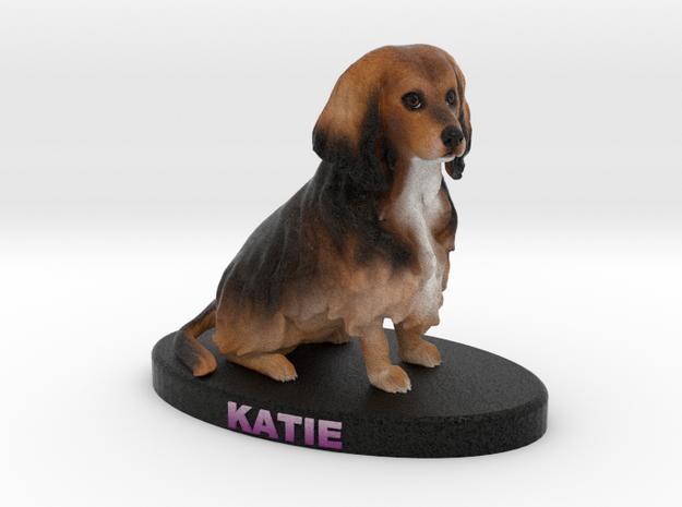 Custom Dog Figurine - Katie in Full Color Sandstone