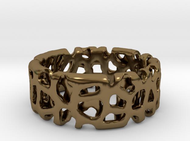 Voronoi Ultimate Man Ring in Polished Bronze