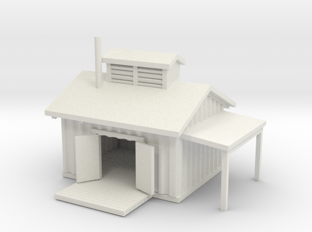 Railroad Shed 3d printed Railroad work shed Z scale