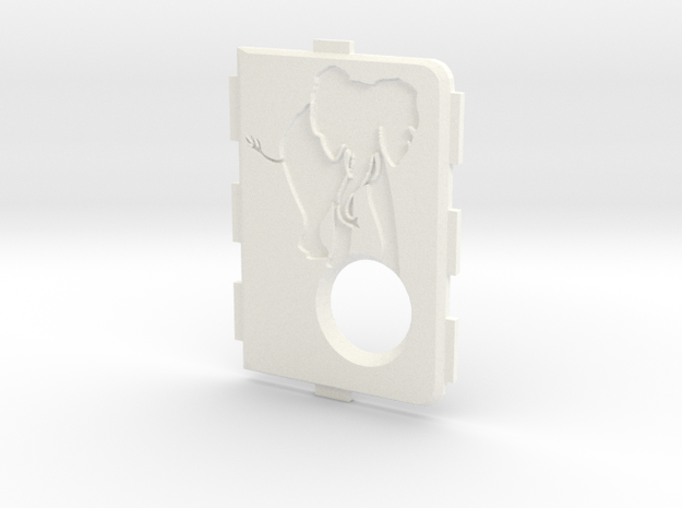 MarkV Cover  - Elephant 1 in White Processed Versatile Plastic