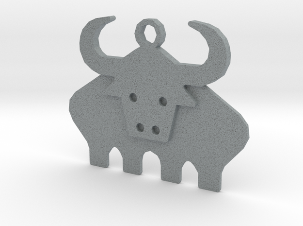 Ox in Polished Metallic Plastic