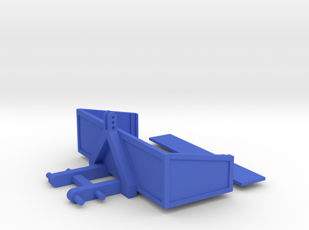 Transport Bucket 1/32 Model in Blue Processed Versatile Plastic
