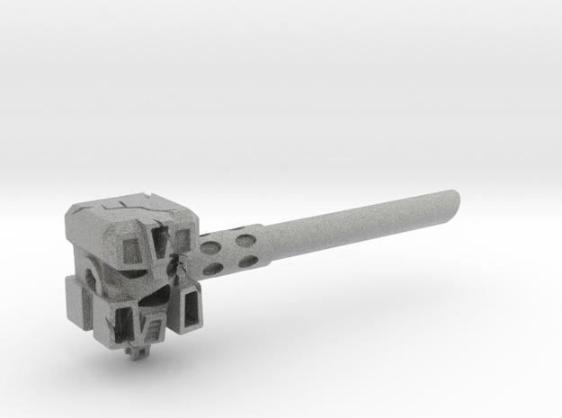 Ignoble Foe - 5mm Makeshift Battle Hammer  in Metallic Plastic