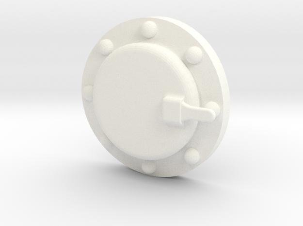 "1 1/2"" Scale Baldwin Smoke Box Cleanout Ver. B in White Processed Versatile Plastic"