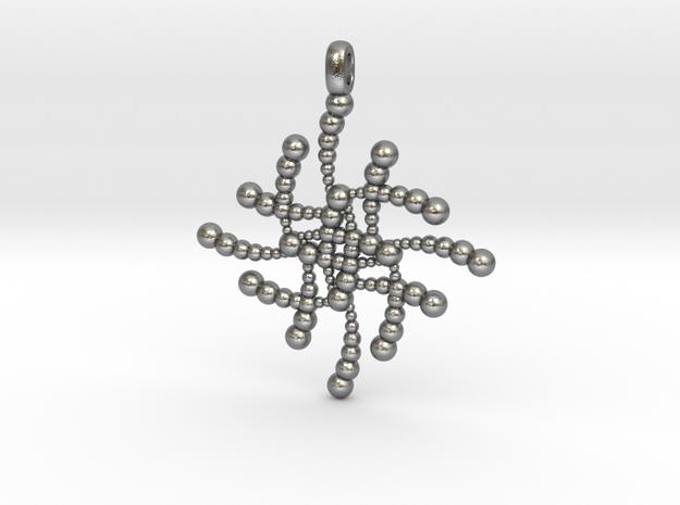 SUBATOMICAL Spheres Designer Jewelry Pendant. in Natural Silver