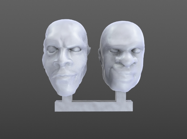 heads 28 mm in Frosted Ultra Detail