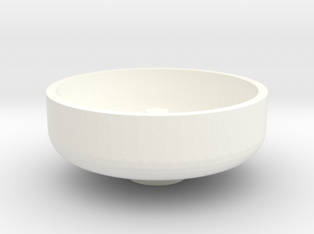 """1 1/2"""" Scale Nathan Whistle Bowl in White Strong & Flexible Polished"""