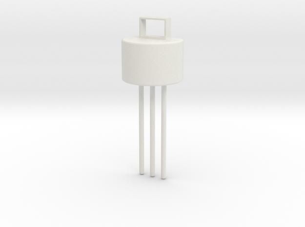 Transistor Pendant in White Natural Versatile Plastic