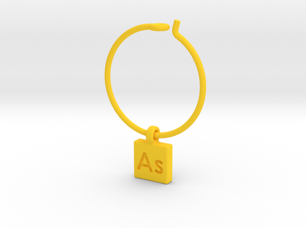 Element Wine Charm - As 3d printed