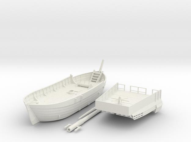 English Kogge, no shields in White Natural Versatile Plastic