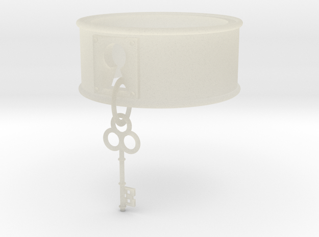 Lock And Key Ring Band Size 8 in Transparent Acrylic