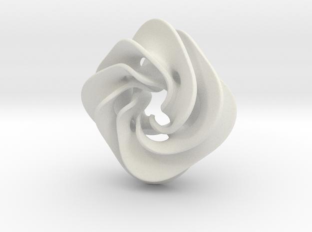 Scherk Pendant II in White Strong & Flexible