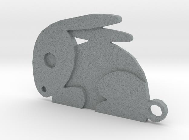 Rabbit in Polished Metallic Plastic