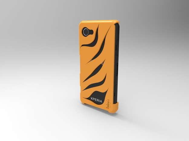 Xperia Z1 Compact Tiger in Orange Strong & Flexible Polished
