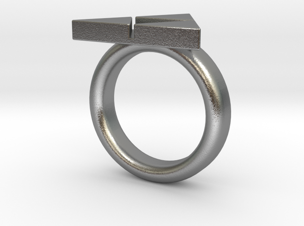 Triforce Ring - Zelda size 8(other sizes just ask) in Raw Silver
