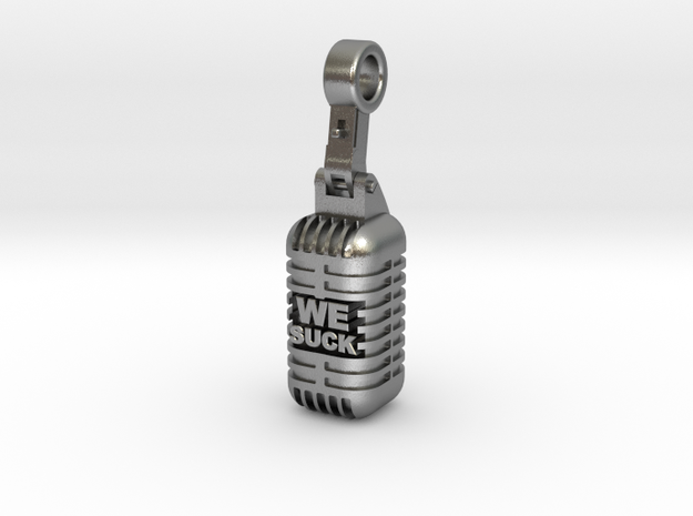 We Suck Vintage Microphone in Natural Silver