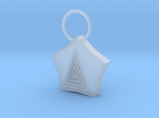 Pyramid Pendant in Smooth Fine Detail Plastic