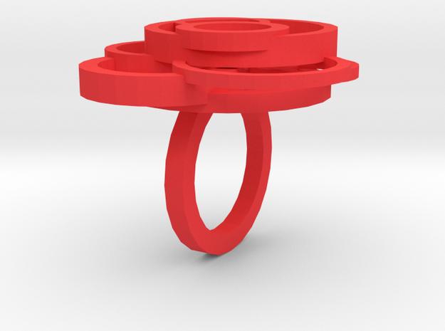 Circle Ring  size 7 3d printed