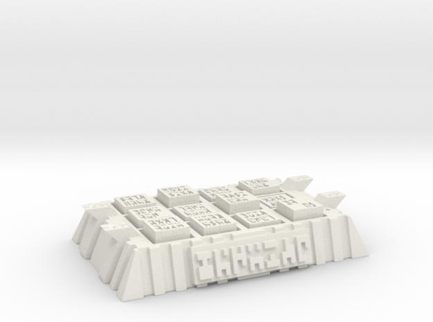 Ancient Base in White Natural Versatile Plastic