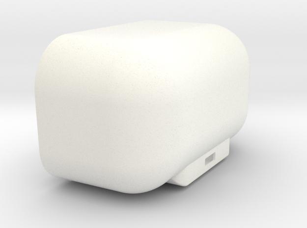 DJI Phantom FC40 1.5 - 40mm Battery Door v2 in White Processed Versatile Plastic