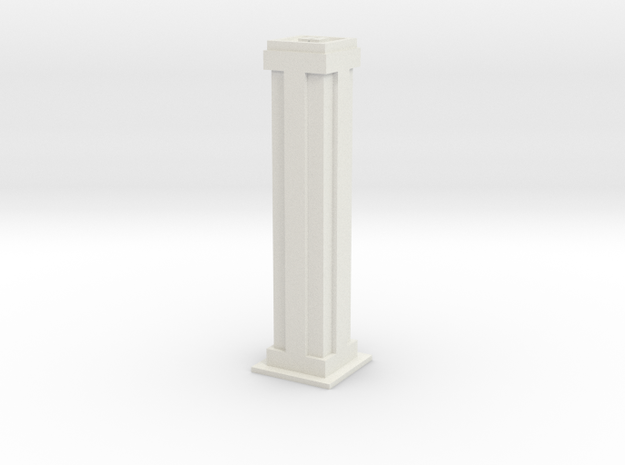 Tower Block 2 in White Strong & Flexible