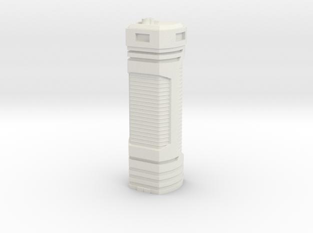 Tower Block 3 in White Natural Versatile Plastic