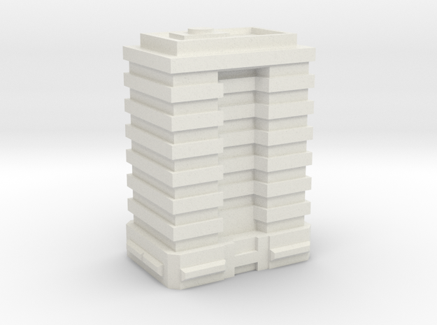 Stackable Tower Block 4 in White Natural Versatile Plastic